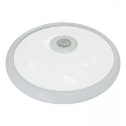 V-TAC plafond LED rond 12W lumière froid avec détecteur de mouvement