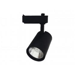 Projecteur LED COB sur rail 30W 4000K 1750Lm ip43 Noir B30-H