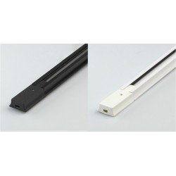 Rail Monophasé pour Spots LED 1 Métre noir