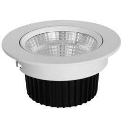 Downlight orientable LED ronde 10w 3000k 800 Lm blanc ET613
