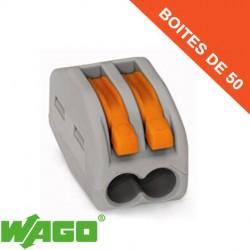Borne Wago 2 connection avec leviers de manipulation (x50)