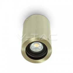 V-TAC Support pour spots LED GU10 rond nickle satin