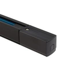 Rail Triphasé pour Spots LED 2 Métre Noir avec alimentation