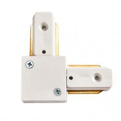 Connecteur Type L pour Rail Monophasé Blanc