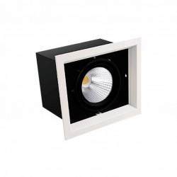 Boitier encastrables LED COB x1 Orientable 20W 4000k 1600lm blanc/noir