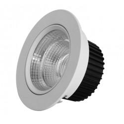 Downlight orientable LED ronde 10w 800 Lm blanc ET613