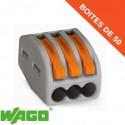 Borne Wago 3 connection avec leviers de manipulation (x50)