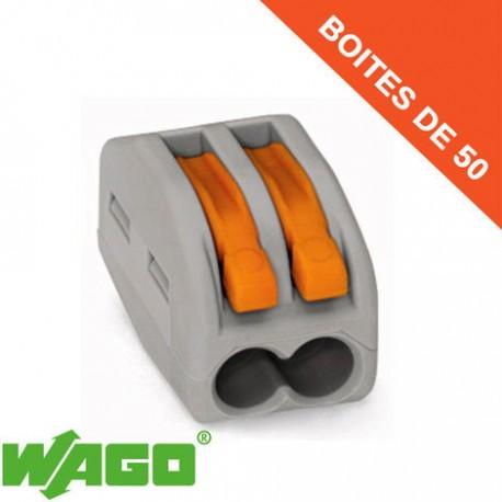 Borne Wago 2 connection avec leviers de manipulation (x100)