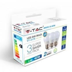 Ampoule LED E27 5.5w 2700k 3pcs / pack