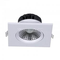 V-TAC Spot LED Encastrable Réglable Carré 5W 4000K 350LM